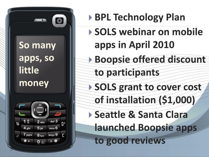 BPL Technology Plan