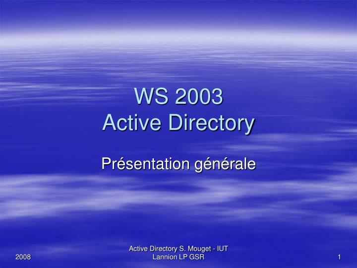 ws 2003 active directory n.