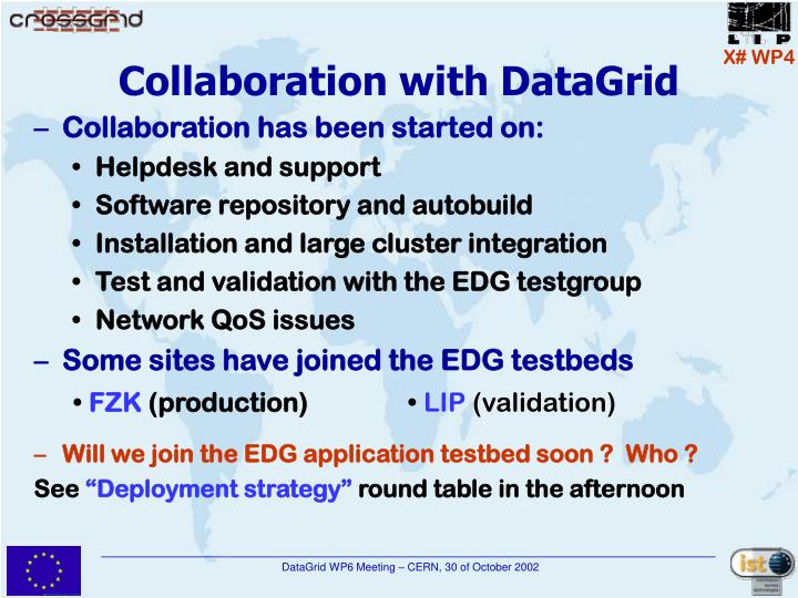 Collaboration with DataGrid