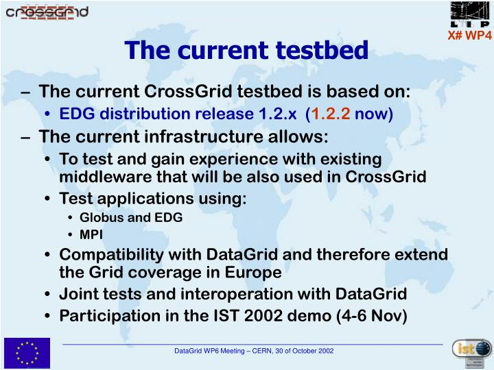 The current testbed