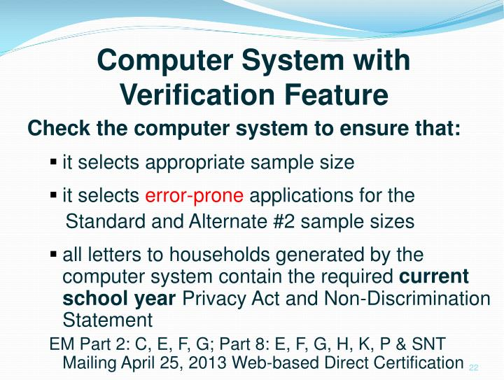 Computer System with Verification Feature