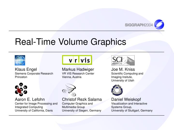 real time volume graphics n.