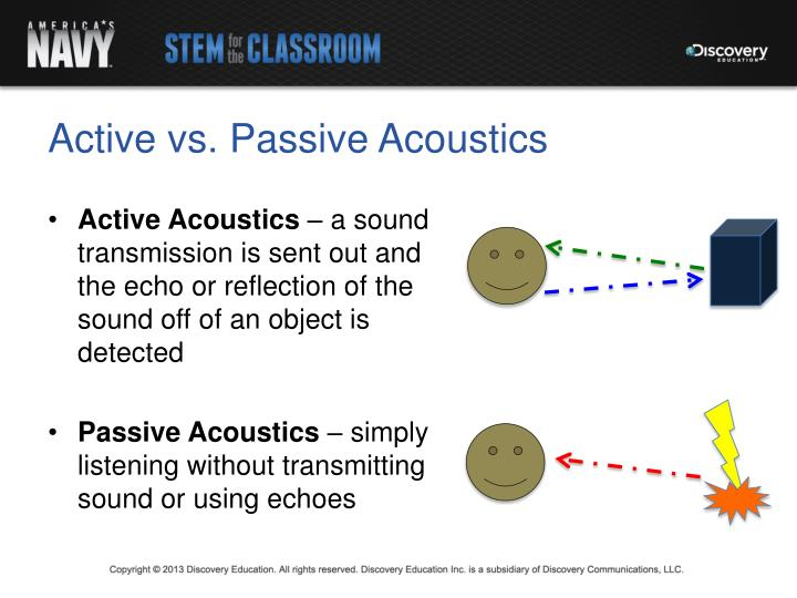 Active vs. Passive Acoustics