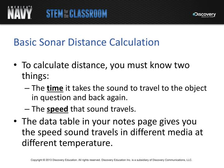 Basic Sonar Distance Calculation