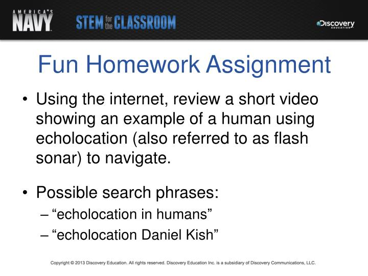 Fun Homework Assignment