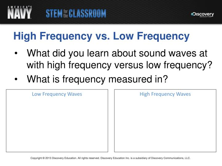 High Frequency vs. Low Frequency