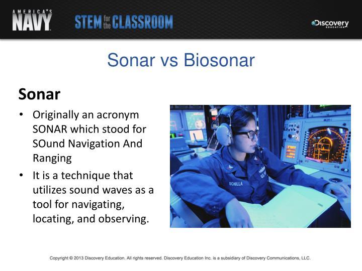 Sonar vs Biosonar