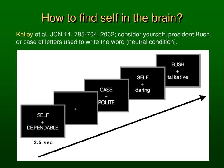 How to find self in the brain?