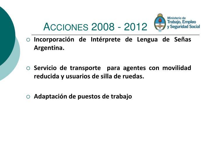 Acciones 2008 -