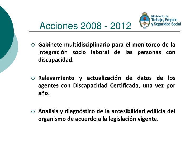 Acciones 2008 - 2012