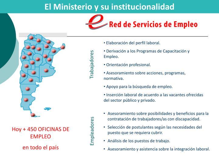 El Ministerio y su institucionalidad