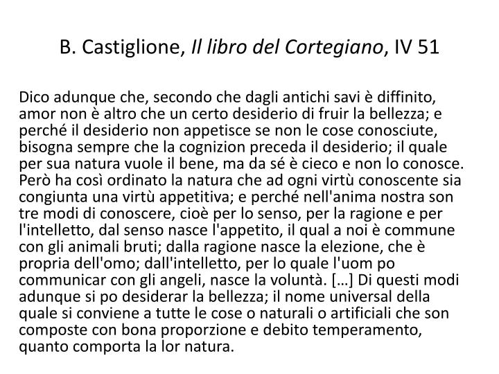 B castiglione il libro del cortegiano iv 51