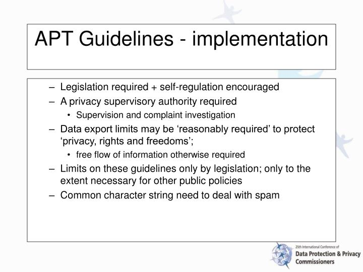 Legislation required + self-regulation encouraged