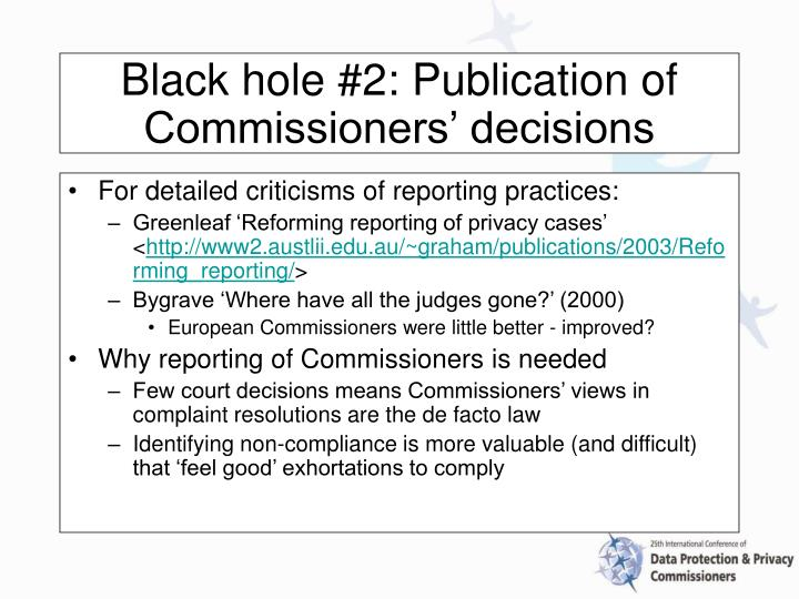 For detailed criticisms of reporting practices: