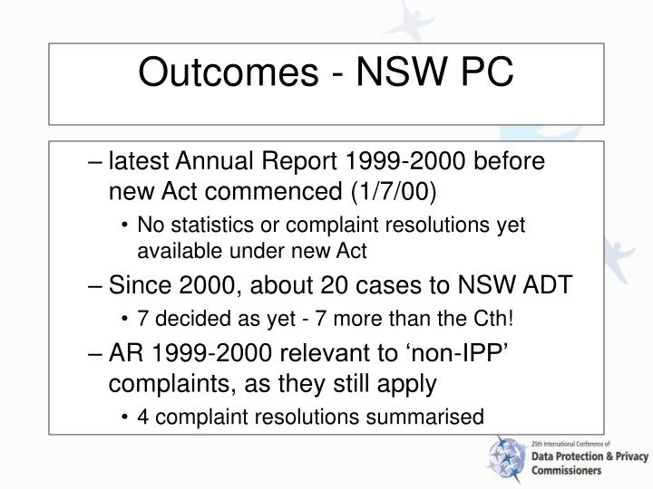 latest Annual Report 1999-2000 before new Act commenced (1/7/00)