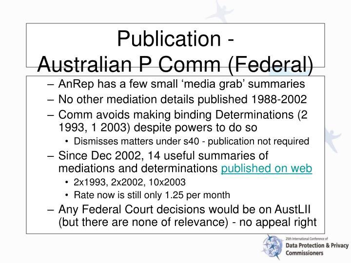 AnRep has a few small 'media grab' summaries