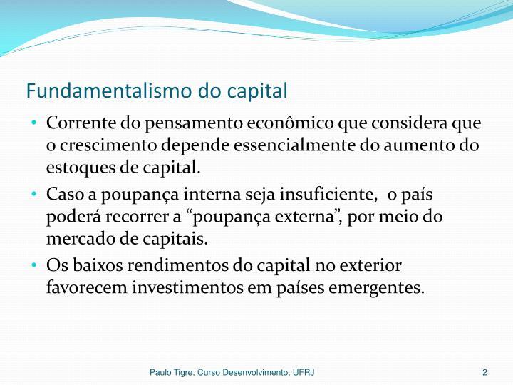 Fundamentalismo do capital