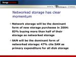 networked storage has clear momentum