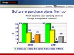 software purchase plans firm up