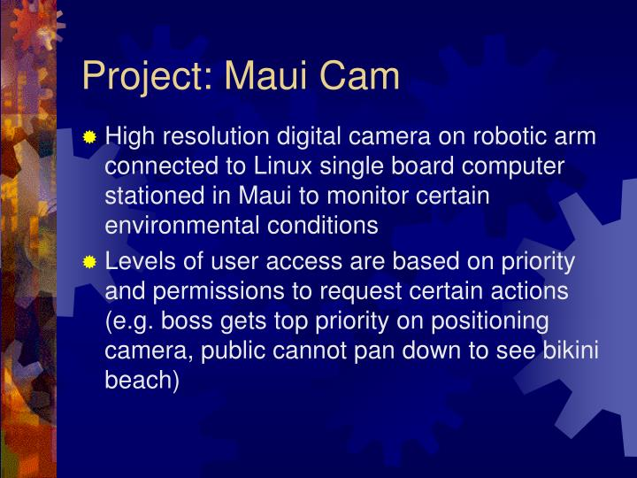 Project: Maui Cam