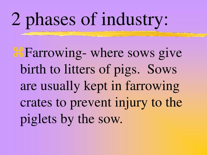 2 phases of industry:
