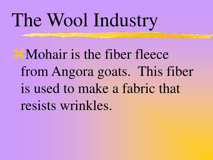 The Wool Industry