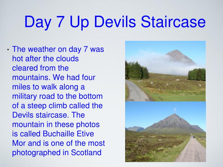 Day 7 Up Devils Staircase