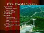china powerful dynasties