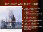 the opium wars 1839 1860