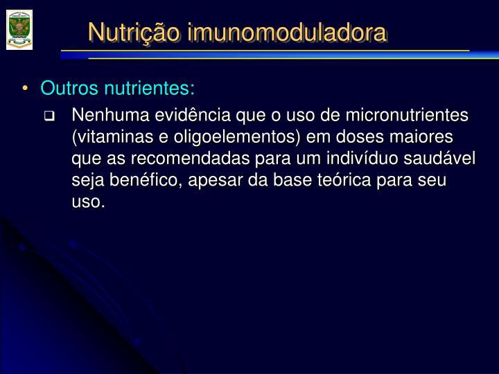 Nutrição imunomoduladora