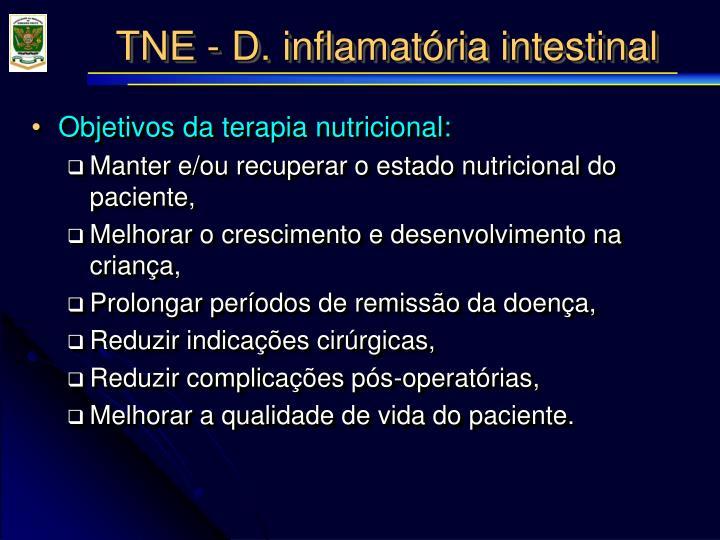 Objetivos da terapia nutricional: