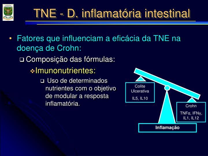 Fatores que influenciam a eficácia da TNE na doença de Crohn: