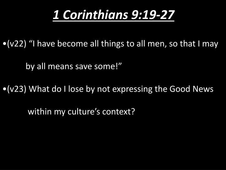 1 Corinthians 9:19-27