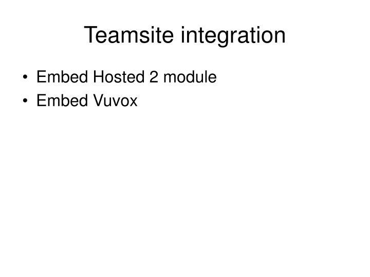 Teamsite integration