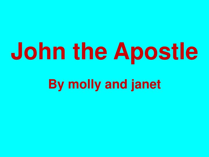 the character of john the apostle John the evangelist (greek: εὐαγγελιστής ἰωάννης, coptic: ⲓⲱⲁⲛⲛⲏⲥ or ⲓⲱ̅ⲁ) is the name traditionally given to the author of the gospel of john christians have traditionally.