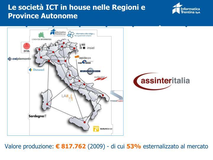 Le società ICT in house nelle Regioni e Province Autonome