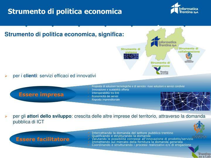 Strumento di politica economica