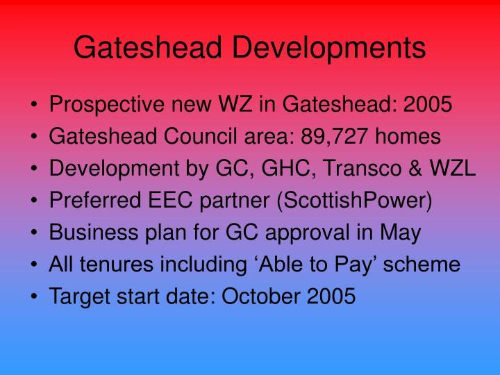 Gateshead Developments
