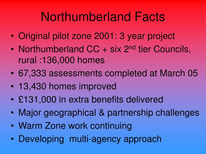 Northumberland Facts