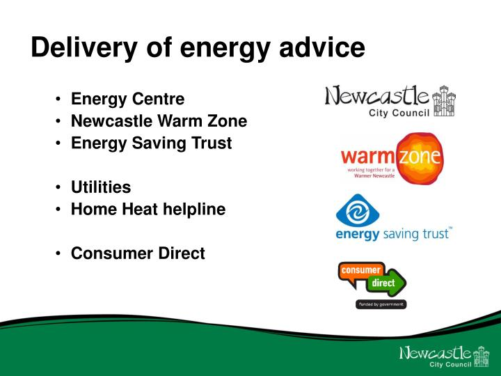 Delivery of energy advice