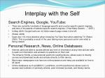 interplay with the self1