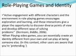 role playing games and identity