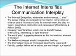 the internet intensifies communication interplay