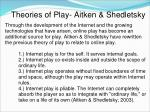 theories of play aitken shedletsky