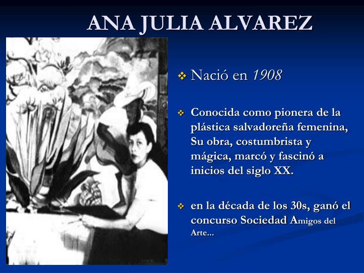 ANA JULIA ALVAREZ