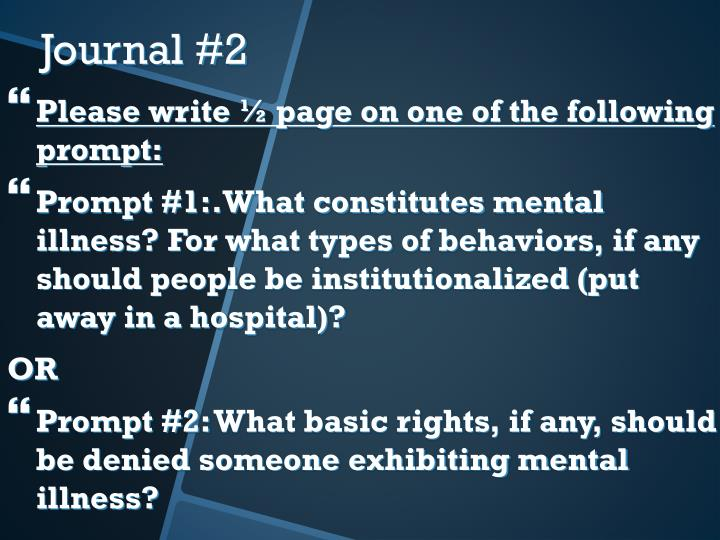Please write ½ page on one of the following prompt: