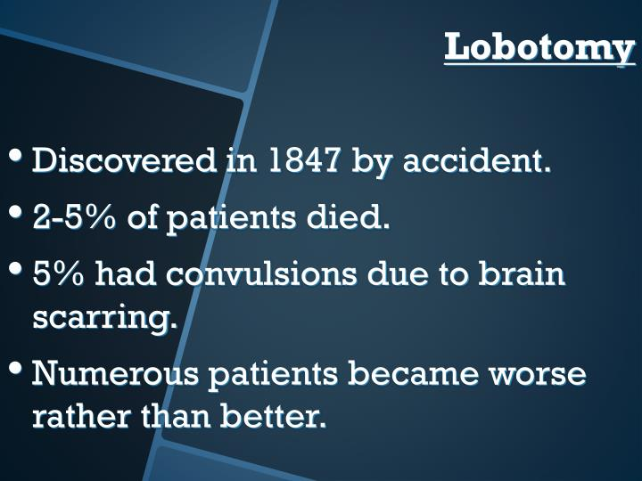 Discovered in 1847 by accident.