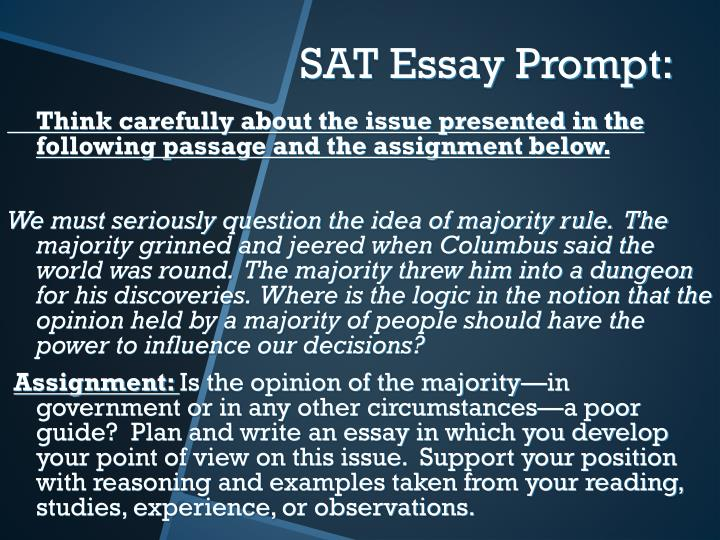 Think carefully about the issue presented in the following passage and the assignment below.