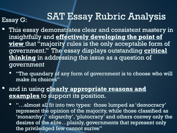 Essay G:
