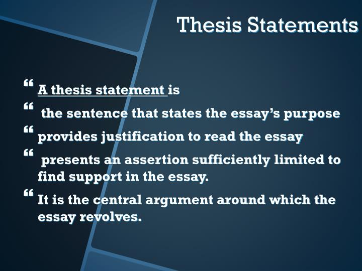 A thesis statement